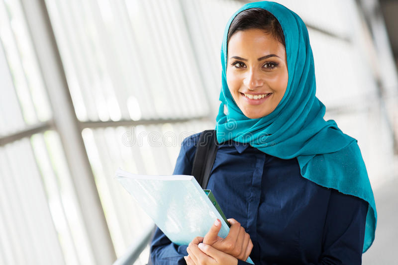 Estudiante universitario de Oriente Medio foto de archivo