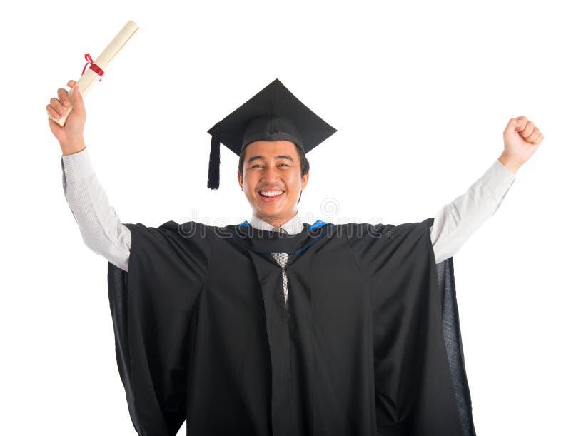 Estudiante Universitario Graduado Alegre Imagen De Archivo