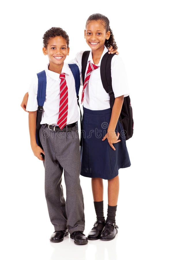 Estudiantes de la escuela primaria fotos de archivo