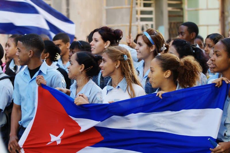 Estudiantes de La Habana marzo imagenes de archivo