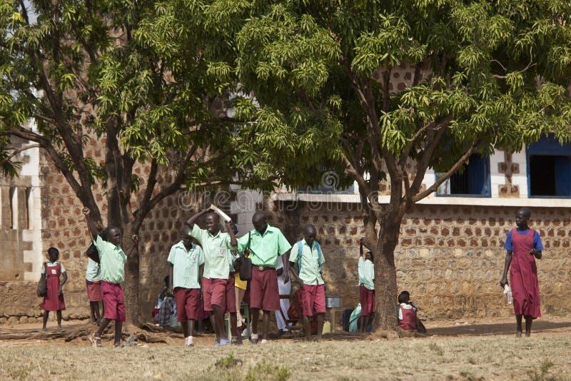 Estudiantes en Sudán del sur fotografía de archivo