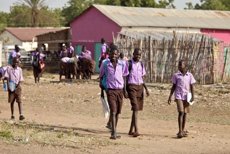Estudiantes en Sudán del sur foto de archivo