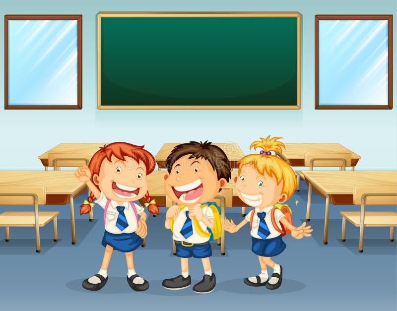 Estudiantes felices stock de ilustración