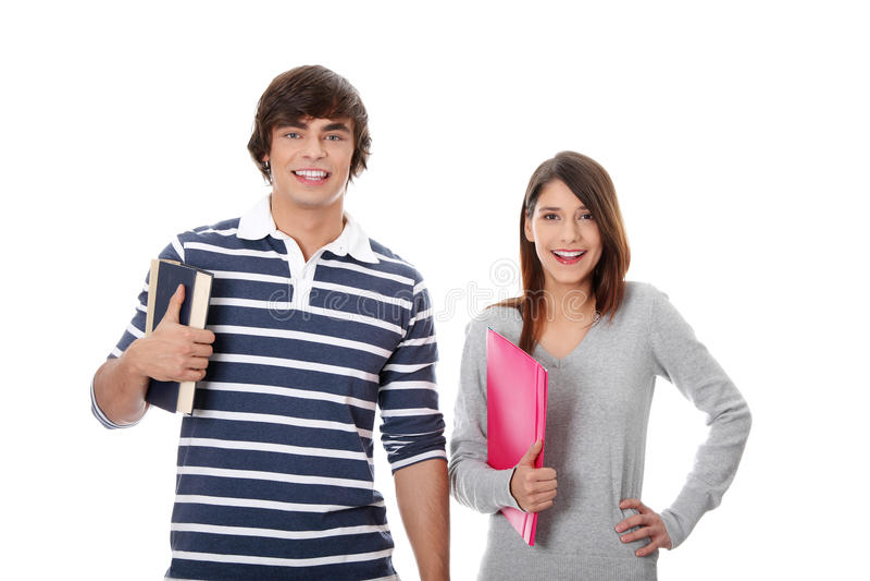 Estudiantes felices jovenes. fotografía de archivo libre de regalías