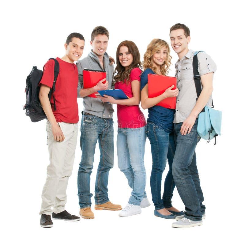 Estudiantes felices junto foto de archivo libre de regalías