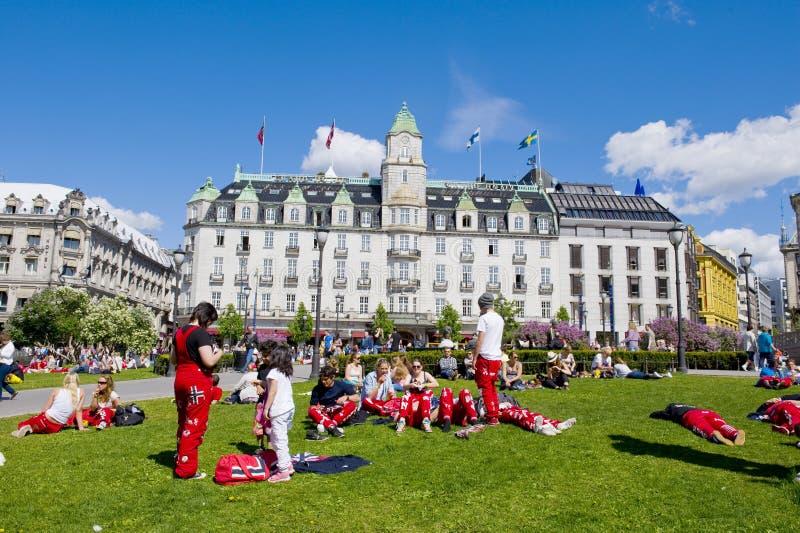 Estudiantes noruegos foto de archivo libre de regalías