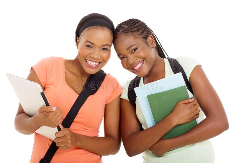 Estudiantes universitarios africanos fotos de archivo libres de regalías