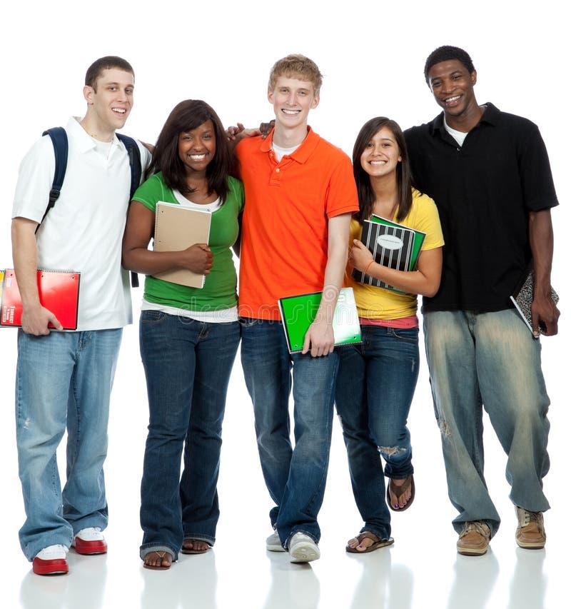 Estudiantes universitarios multiculturales foto de archivo