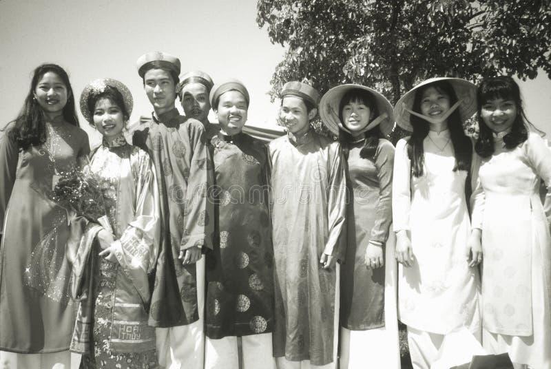 Estudiantes Vietnamita-Americanos imagenes de archivo