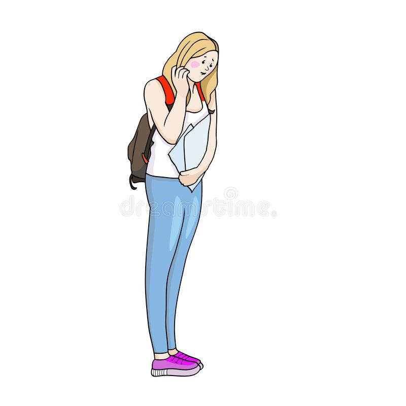 Estudiantes y educación stock de ilustración