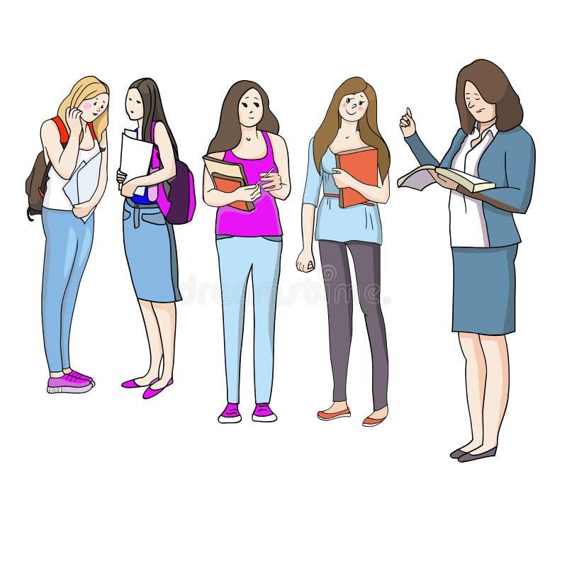 Estudiantes y educación ilustración del vector