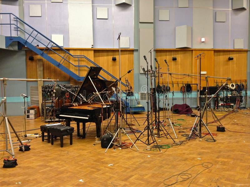 Estudio 1, Abbey Road Studios, Londres imágenes de archivo libres de regalías