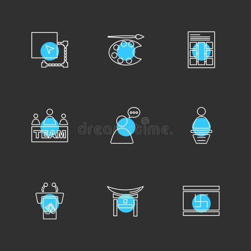 estudio, calculadora, vídeo, usuario, establecimiento de una red, religión, EPS stock de ilustración