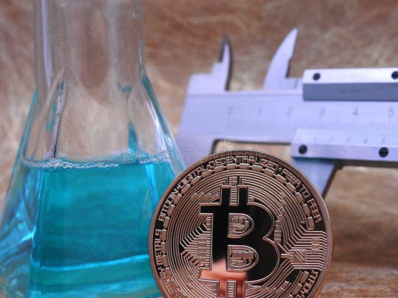Estudio de Bitcoin imagen de archivo