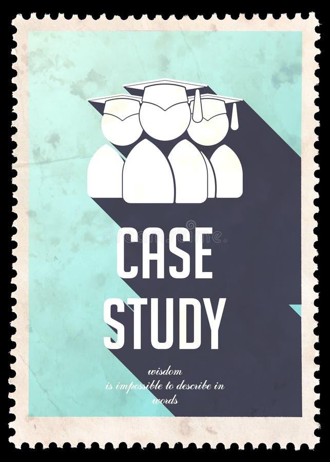 Estudio de caso en azul claro en diseño plano. ilustración del vector