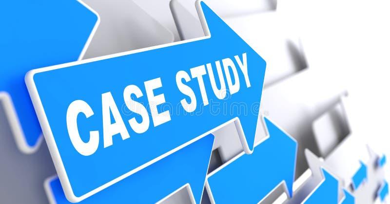 Estudio de caso en flecha azul. ilustración del vector