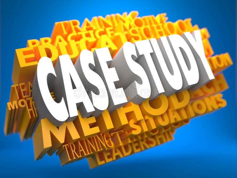 Estudio de caso en WordCloud amarillo. libre illustration