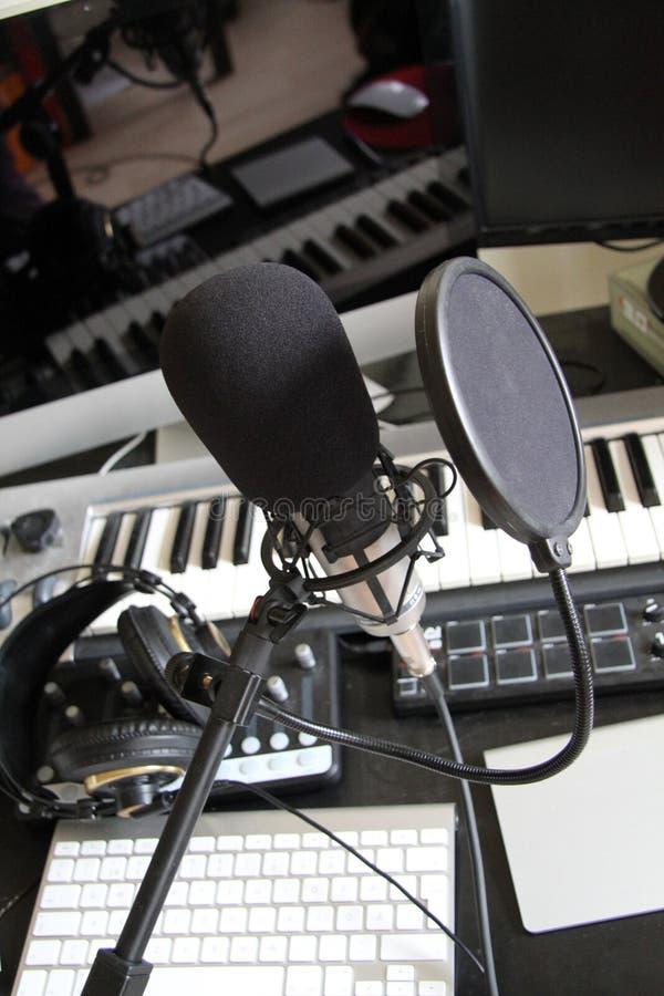 Estudio de grabación de la música de Digitaces imagen de archivo libre de regalías
