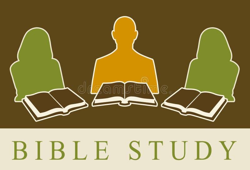 Estudio de la biblia stock de ilustración