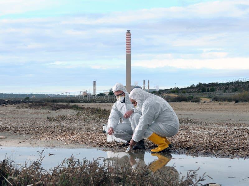 Estudio de la contaminación ambiental fotografía de archivo libre de regalías
