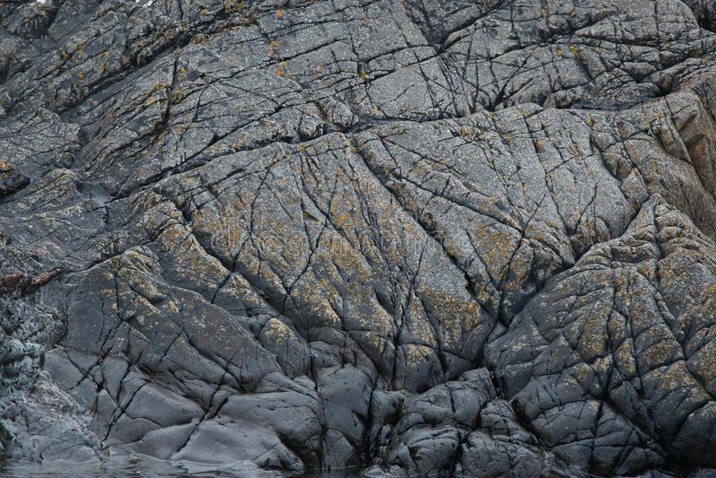 Estudio de la roca y de formaciones minerales, Northumberland y fronteras escocesas fotos de archivo libres de regalías
