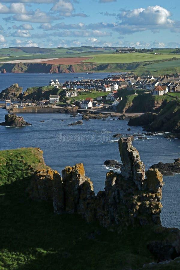 Estudio de la roca y de formaciones minerales, Northumberland y fronteras escocesas imagenes de archivo
