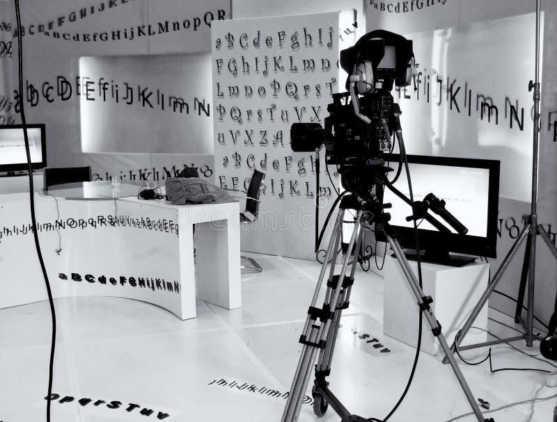 Estudio de la televisión fotografía de archivo