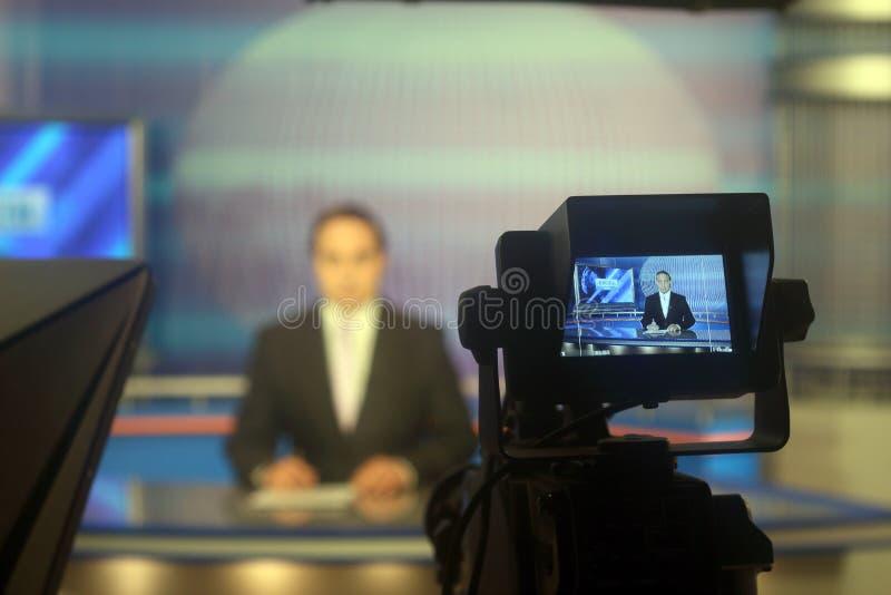 Estudio de la TV foto de archivo libre de regalías