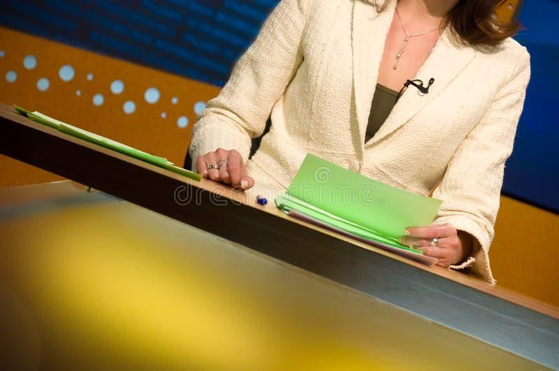 Estudio de la TV para las noticias foto de archivo libre de regalías