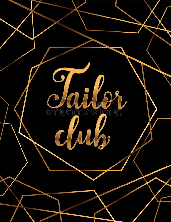 Estudio de Logo Fashion Caligrafía hecha a mano de encargo, letras del cepillo del vector para el salón de la moda libre illustration