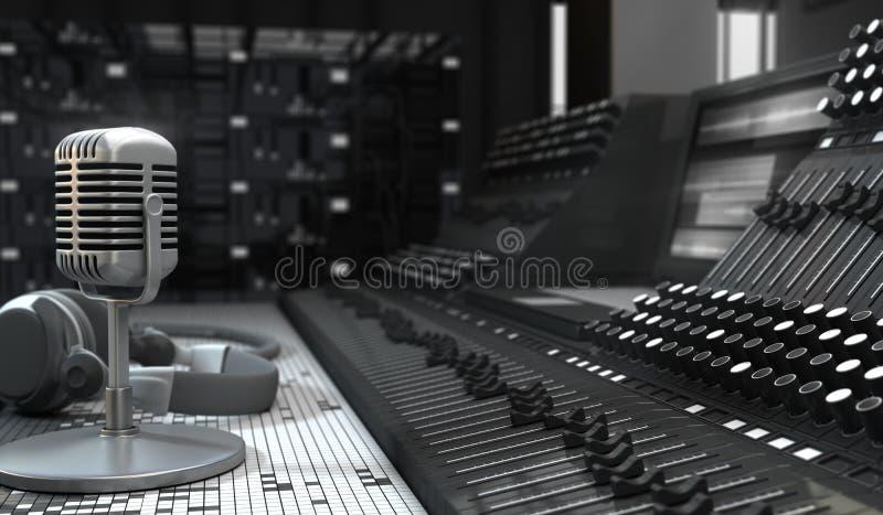 Estudio de los sonidos ilustración del vector