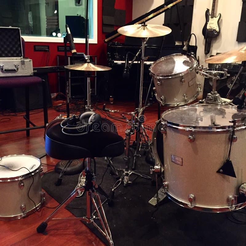 Estudio de los tambores de grabación imagen de archivo libre de regalías