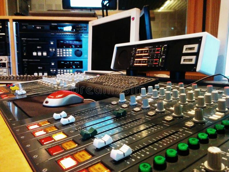 Estudio de radio (PAA de la radio) foto de archivo