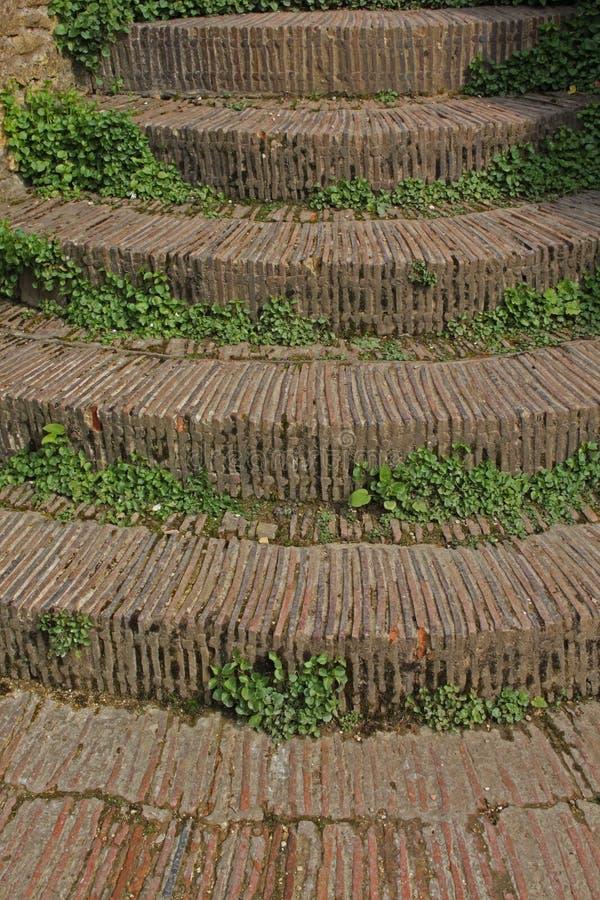 Estudio de una escalera y de los pasos, estilo de la piedra de la casa de campo de los cotswols fotos de archivo libres de regalías