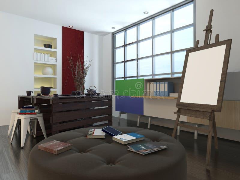 Estudio del diseño moderno o del arte ilustración del vector