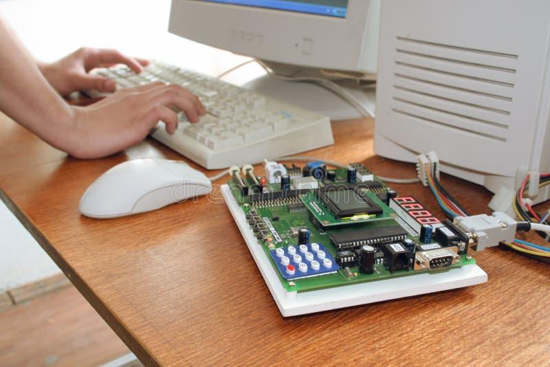 Estudio del microprocesador foto de archivo