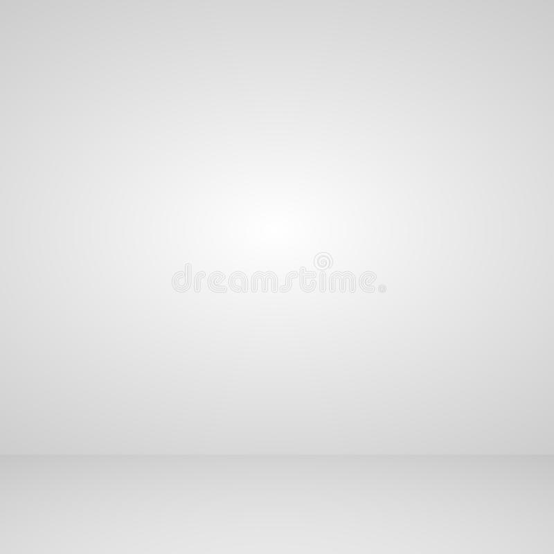 Estudio del sitio del fondo blanco abstracto para la exposición e interior vacíos, ejemplo del vector libre illustration