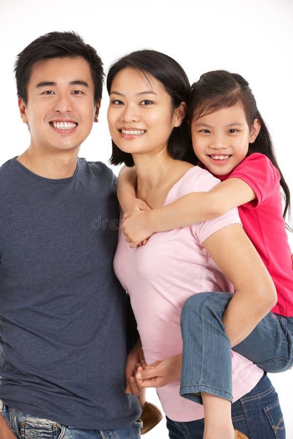 Estudio tirado de la familia china fotos de archivo