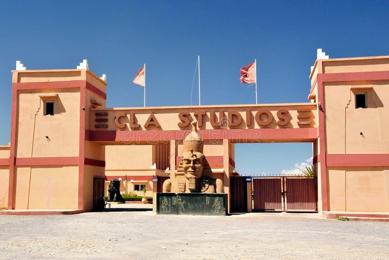 Estudios cinematográficos de Ouarzazate en Marruecos imagen de archivo
