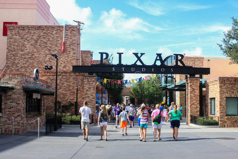 Estudios de Pixar en los estudios de Hollywood de Disney imágenes de archivo libres de regalías