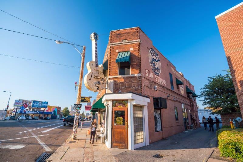 Estudios de Sun en Memphis imágenes de archivo libres de regalías