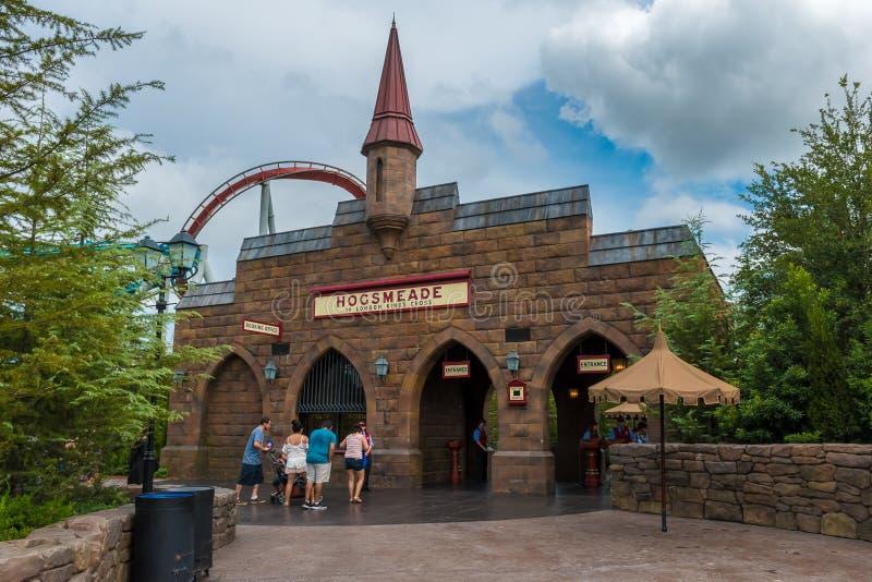 Estudios universales Harry Potter Hogsmead Station fotos de archivo libres de regalías