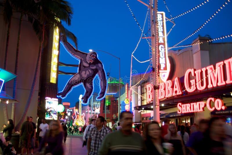 Estudios universales Hollywood Citywalk foto de archivo libre de regalías