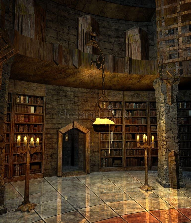 Estudo 2 do feiticeiro ilustração do vetor