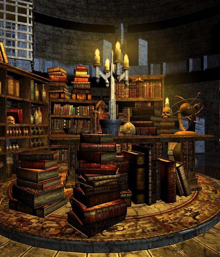 Estudo 3 do feiticeiro ilustração stock