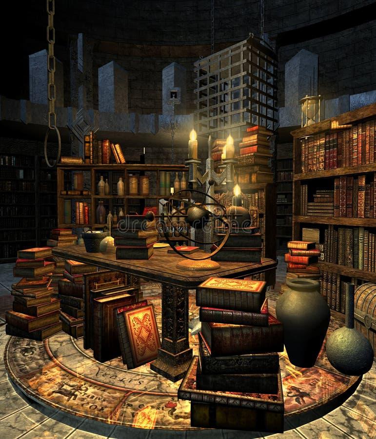 Estudo 4 do feiticeiro ilustração do vetor