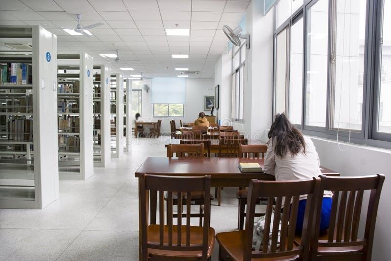 Estudo da biblioteca foto de stock