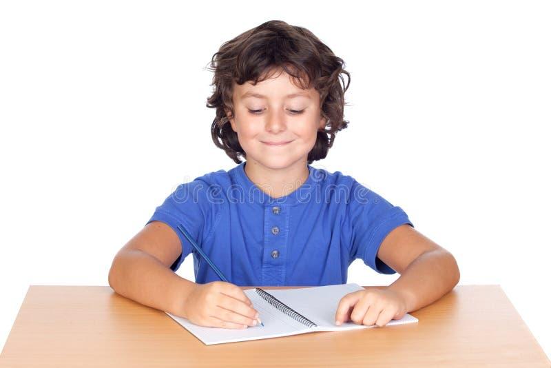 Estudo da criança do estudante imagens de stock