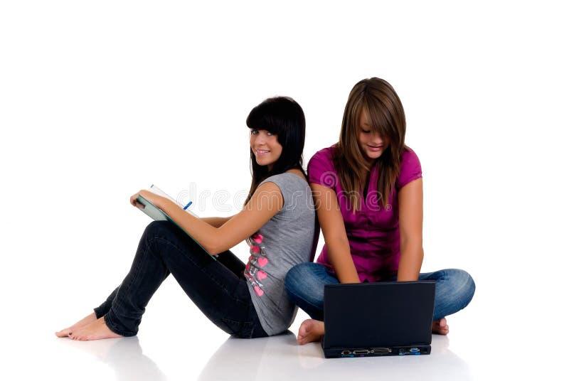 Download Estudo Das Meninas Do Adolescente Imagem de Stock - Imagem de helping, estudar: 10066007