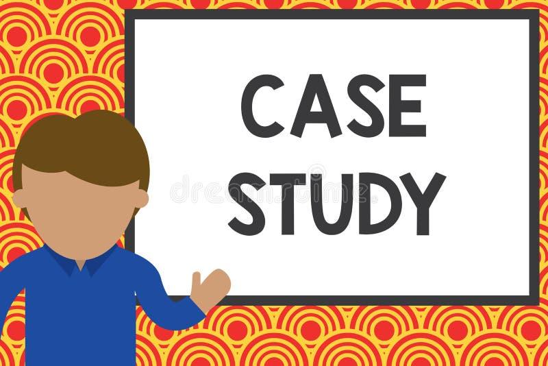 Estudo de caso da escrita do texto da escrita Conceito que significa a análise e um projeto específico da pesquisa para examinar  ilustração do vetor
